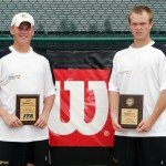 ITA Midwest Region singles finalist Adam Morgan and champion Loren Collins