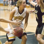 Junior Erin Boese scored ten points at St. Olaf, her second-highest output of the season.