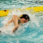 Ben Hanson finished 12th in the 500 free and swam a leg on the 12th-place 400 medley relay
