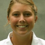 Sophomore Kimbra Kosak holds a share of the 36-hole lead at the Winona State Invitational.