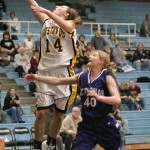 Julia Schultz goes up for a lay-up.