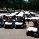 Sixty-five golfers participated in the golf outing.