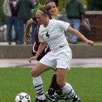 Callie Christensen scored the only goal for Gustavus