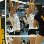 Britta Bolm and Angela Ahrendt go up for the block.