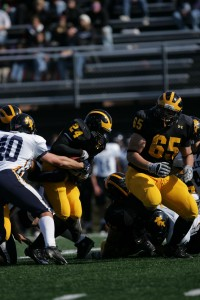 Kendrick Hall rushed for a career best 155 yards and two touchdowns last week against Augsburg.