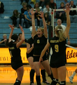 The Gustie front line celebrating.