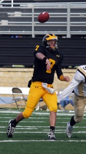 Jordan Becker has thrown eight touchdown passes in the last two games for the Gusties.