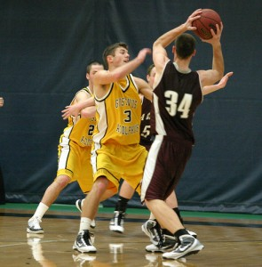 Gustavus's Tyler Gray scored a team high 19 points in the game