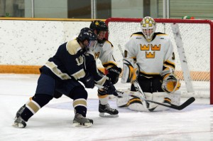 Josh Swartout made 20 saves and picked up the win in the nets for Gustavus.