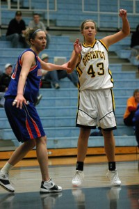 Senior Katie Layman gives the team a veteran presence in the post.