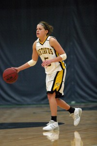 All-Conference point guard Bri Radtke will lead the Gusties in 2009-10