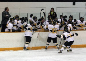 The Gustavus women's hockey team hopes to do a lot of celebrating in 2009-10.
