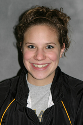 Carley Mosher was victorious in the 100 and 200 backstroke, and the 200 medley relay at the Falcon Invite