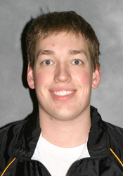 Gustavus senior Skylar Davis registered three wins in the 200 and 500 freestyle, and 400 IM in the two-day Falcon Invite
