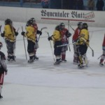 Post-game handshake with Swiss National Team