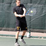 Patrick Clark was a part of two points for the Gusties winning at #2 doubles and #2 singles against Carleton.
