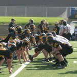 Gusties Lined Up for a Field Goal