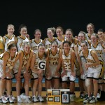 "Molly ""G"" Geske scored her 1000th career point in Gustavus' 85-45 victory over Augsburg on Wednesday night."