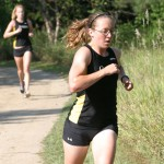 Junior Beth Hauer led the way for the Gusties, winning the race with a time of 20:32.4.
