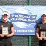 Megan Gaard (left) and Alex Erickson (right) finished runner-up in doubles at the USTA/ITA Midwest Regional