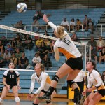 Olivia Warren elevates for a spike on Friday night against Bethel.  Warren finished with 10 kills and 10 digs.
