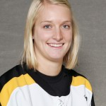 Senior Allie Schwab scored a career-high four goals against Augsburg Friday night.