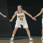 Colleen Ruane (22) will look to keep a stout defense intact for the Gusties. Ruane leads the MIAC in steals with 43