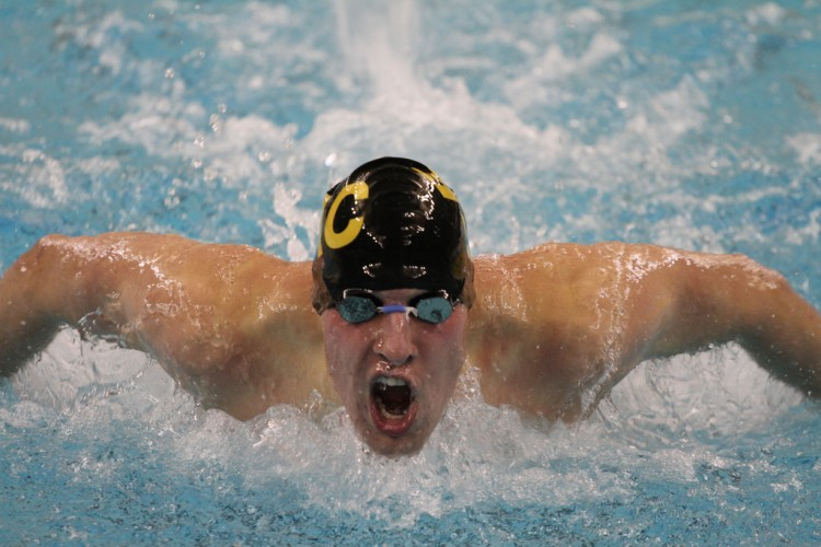 Senior Matt Van Fossen finished ninth in the 200 breaststroke (1:59.47) in the final MIAC meet of his career.