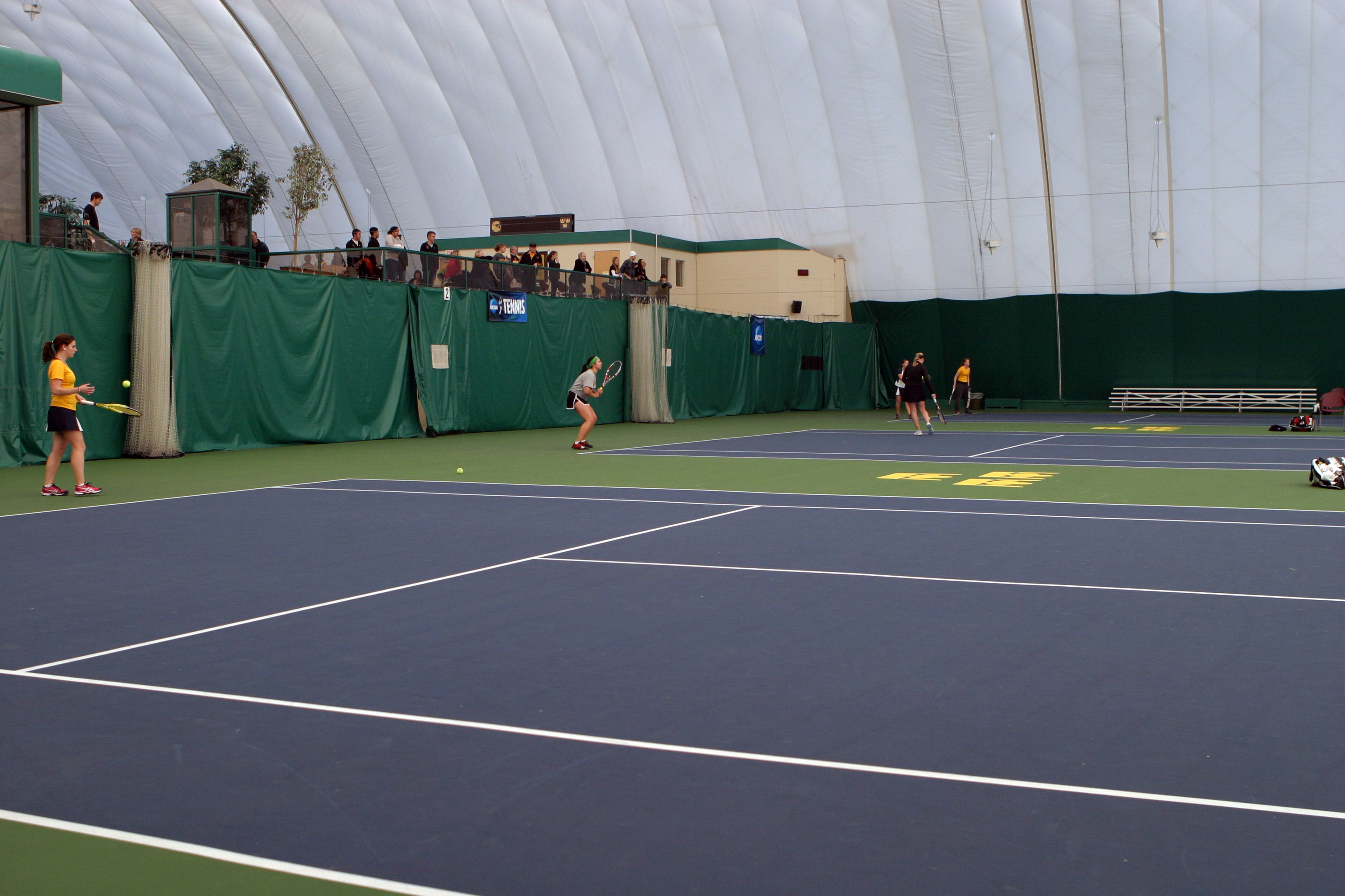 The Gustie women's tennis team opened its home schedule with a 6-3 win over Augustana on Saturday.