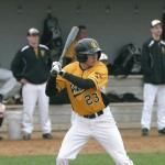 Evik Sveen went 4-for-5 with a run and three RBI (one of which being the game-winner) in Gustavus' 7-6 victory over Augsburg in game one.