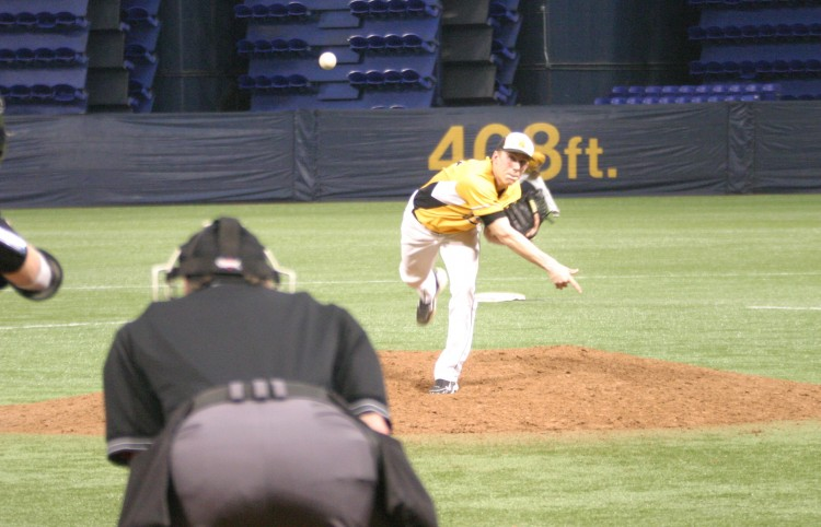 Kellan Euerle picked up his first win of the season against Wartburg Sunday night. Euerle pitched a complete game, giving up two runs on nine hits and striking out seven batters
