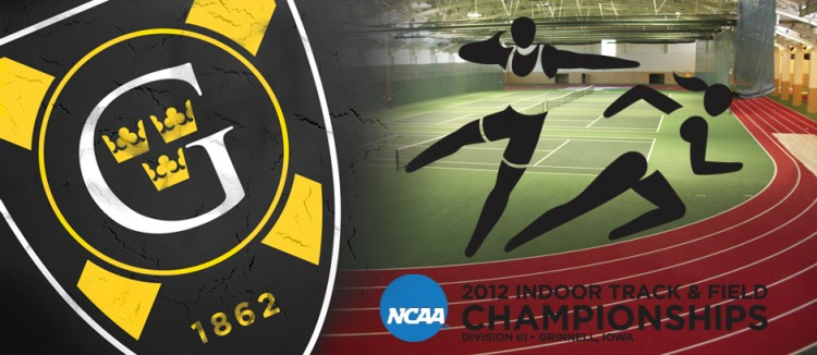 The 2012 NCAA Indoor Track and Field Championshps were held in Grinnell, Iowa on March 9-10. Banner courtesy of Dan Coquyt - Gustavus Sports Information