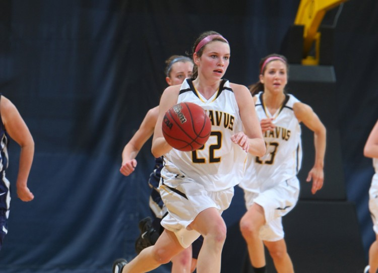 Colleen Ruane (22) and Molly Geske were named MIAC All-Conference. Photo courtesy of Sport PiX