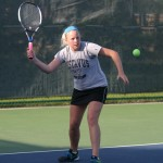 Mallory Shellum picked up her team-high 20th win of the season in singles play with a 6-3, 6-2 victory over Erin Hynes at No. 5 singles.