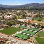 The Biszantz Family Tennis Center in Claremont, Calif. Photo courtesy of CMS Athletics.