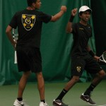 The No. 1 doubles team of Mya Smith-Dennis (left) and Amrik Donkena have won 16 of their last 17 matches together.