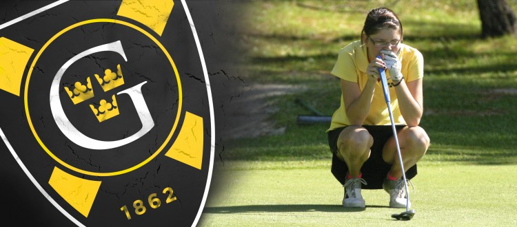 Taylor Drenttel took gold at the Wartburg Invite with a 155 (+11). Banner art courtesy of Dan Coquyt - Gustavus Sports Information.