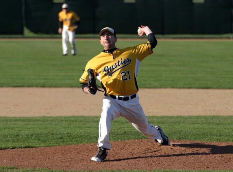 Grant Soderberg picked up the win for Gustavus in game two, allowing three runs on nine hits while striking out nine.
