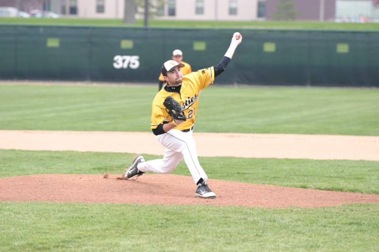 Pitcher Grant Soderberg had a great performance in game one of Sunday afternoon's doubleheader against Saint John's. Soderberg pitched seven innings, giving up two runs on six hits and striking out a career-high 11 batters.