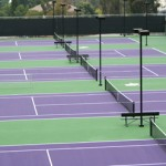 The Richard Ettinger Tennis Courts on the campus of Whittier College. Photo courtesy of Whittier Athletics.