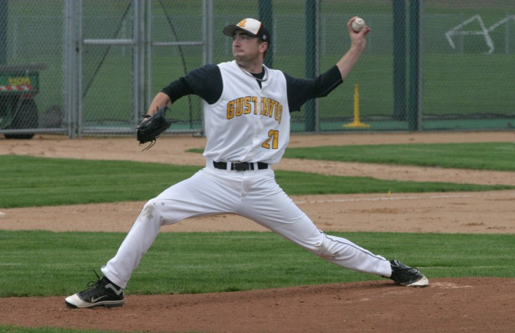 Grant Soderberg was named Rookie-of-the-Year by the MIAC. Soderberg solidified himself as a key starter for Gustavus, going 3-5 with a 2.73 ERA this season.