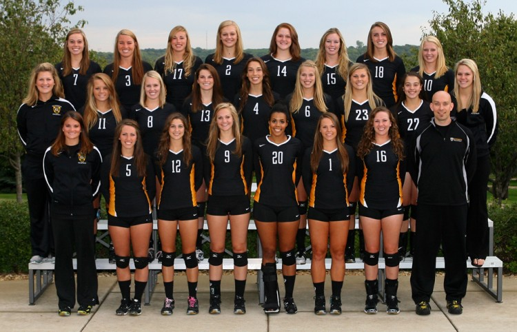The 2012 Gustavus volleyball team. Photo courtesy of Sport PiX.