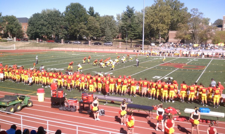 The Gustavus football team captured a 35-26 victory over Simpson in its season-opener on Saturday afternoon in Indianola, Iowa.