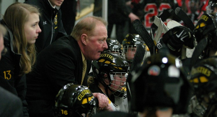 Mike Carroll enters his 14th year behind the bench of the Golden Gustie women's hockey team. Photo courtesy of Sport PiX.