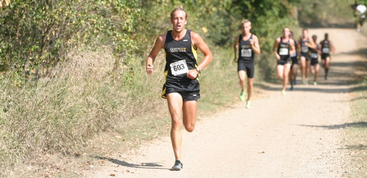 Senior Adam Lund led the Gusties with a 16th place finish Saturday morning.