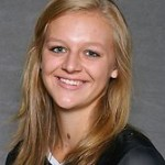 Sophomore Emily Gilman tallied a total of 17 kills on day one of the UW-River Falls Tournament.
