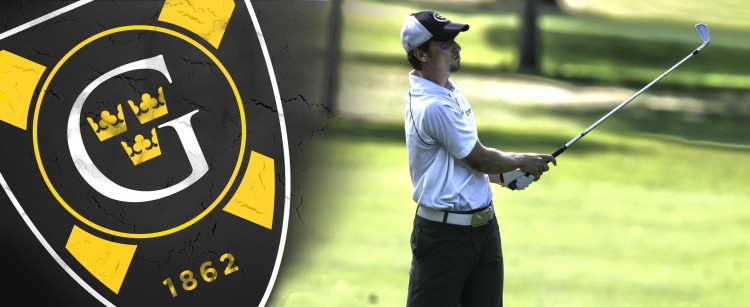 Andrew Oakes Named Gustavus September Student-Athlete of the Month.  Banner courtesy of Dan Coquyt - Gustavus Sports Information.