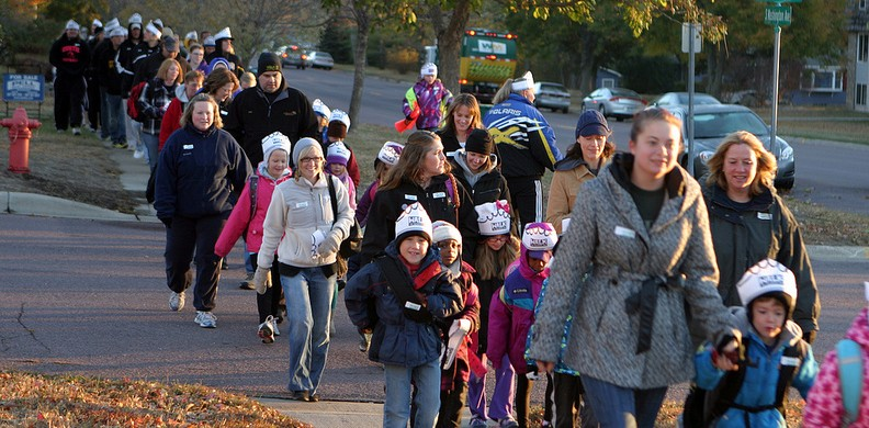 Gusties, students, and parents will be taking part in Walk to School Month this October.
