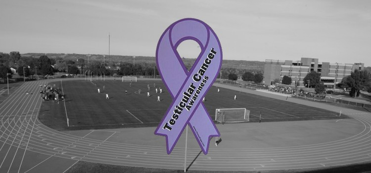 Saturday's match will be designated as Testicular Cancer Awareness Day at the Gustie Soccer Field. Photo courtesy of AJ Dahm - Sport PiX.