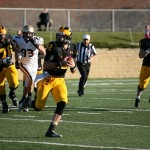 Tim Stepka scrambles on Saturday afternoon Concordia.